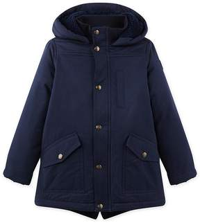 Petit Bateau Boy's parka in coated canvas