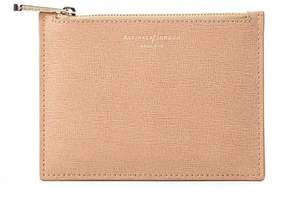 Aspinal of London | Small Essential Flat Pouch In Deer Saffiano | Deer saffiano