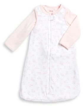 Little Me Baby Girl's Cotton Top and Sleeper Set