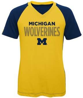NCAA Girls 7-16 Michigan Wolverines Decoder Tee