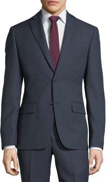 DKNY Birdseye Slim-Fit Two-Button Solid Wool Suit