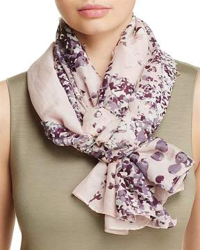 Fraas Perforated Floral Scarf