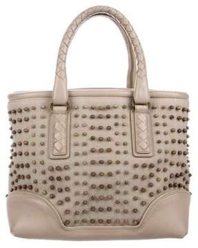 Bottega Veneta Embellished Canvas Handle Bag