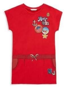 Little Marc Jacobs Little Girl's & Girl's Printed Cap-Sleeve Dress