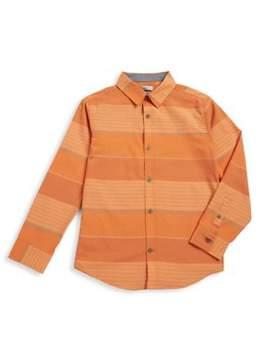 Calvin Klein Jeans Boy's Stripe Button-Down Shirt