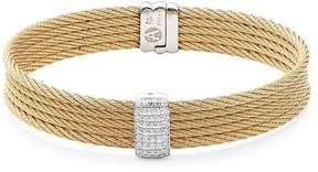 Alor Women's 18K Gold & Stainless Steel Bangle Bracelet