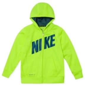 Nike Toddler & Little Boys Yellow Volt Therma-Fit Hoodie Zip Front Sweatshirt 4