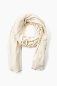 White + Warren Pearl White Cashmere Travel Wrap