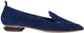 Nicholas Kirkwood Blue Suede Beya Loafers