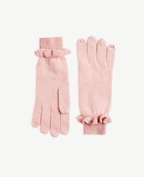 Ann Taylor Ruffle Cuff Gloves