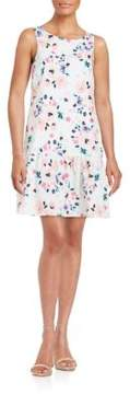 Cynthia Steffe Floral Dropped-Waist Dress