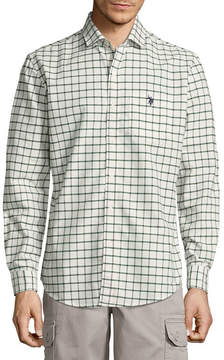 U.S. Polo Assn. USPA Long Sleeve Plaid Button-Front Shirt