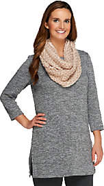 Collection XIIX Collection 18 Sparkle and Fade Metallic Knit Infinity Scarf