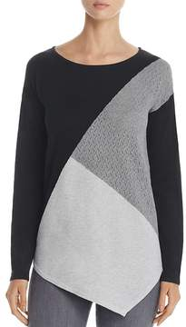 Design History Asymmetric Color Block Sweater