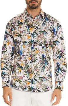 Robert Graham Botanical Print Regular Fit Button-Down Shirt
