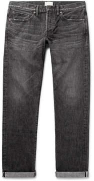 Simon Miller M002 Slim-Fit Distressed Selvedge Denim Jeans