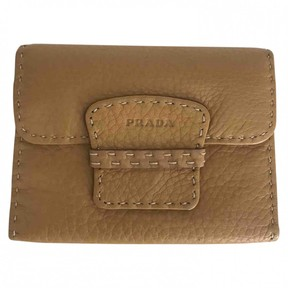 Prada Camel Leather Purses, wallets & cases