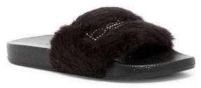 Bebe Furiosa Faux Fur Slide Sandal
