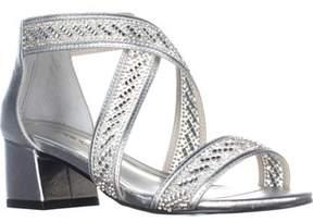 Caparros Imagine Kitten Heel Sandals, Silver.
