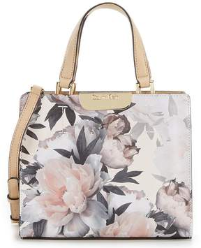 Calvin Klein Lola Floral Leather Small Satchel