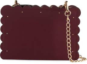 Neiman Marcus Roslyn 3-Zip Scalloped Crossbody Bag