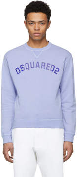 DSQUARED2 Blue Crack Print Dan Sweatshirt