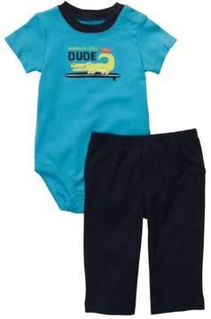 Carter's Infant Boys 2-Piece Grandma's Little Dude Gator Bodysuit & Pants Set