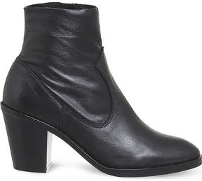 Office Angie heeled leather ankle boots