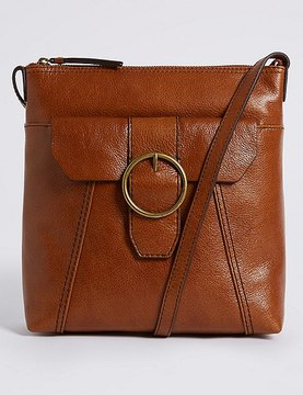 Marks and Spencer Leather Round Buckle Cross Body Bag