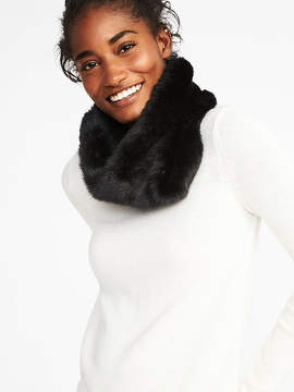 Old Navy Faux-Fur Snood Scarf for Women