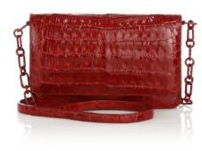 Nancy Gonzalez Crocodile Wallet-On-A-Chain Crossbody Bag