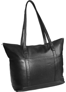 David King Leather 3583 Multi Pocket Shopping Bag