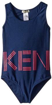 Kenzo Swimsuit Logo Girl's Swimsuits One Piece