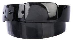Oscar de la Renta Patent Leather Waist Belt