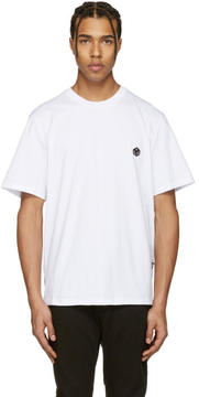 MSGM White Dice Patch T-Shirt