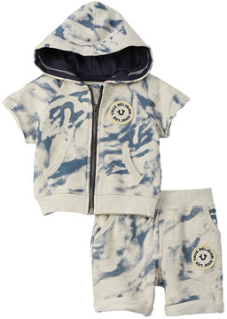 True Religion Boys' 2Pc Hoodie & Short Set