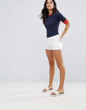 Blend She Casual Jayze White Denim Shorts
