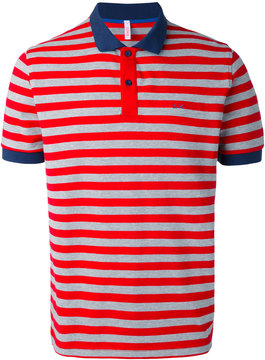 Sun 68 striped polo shirt
