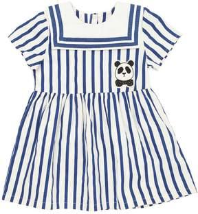 Mini Rodini Stretch Organic Cotton Gabardine Dress