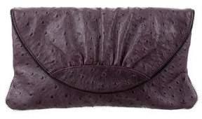 Lauren Merkin Embossed Leather Clutch