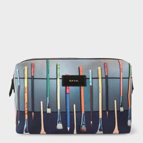 Paul Smith Men's Canvas 'Paint Brush' Print Wash Bag