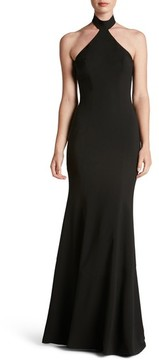 Dress the Population Women's Taylor Crepe Halter Gown