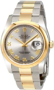 Rolex Datejust Rhodium Dial Steel and 18K Yellow Gold Automatic Men's Watch