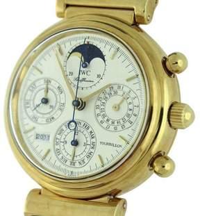 IWC Da Vinci 3752-001 Tourbillon Perpetual Calendar Chronograph Moonphase 18K Yellow Gold 39mm Mens Watch