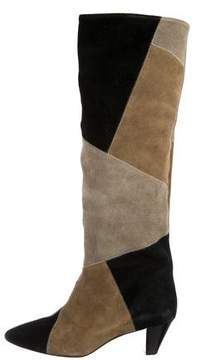 Etoile Isabel Marant Patchwork Knee-High Boots