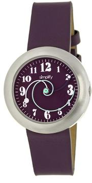 Simplify The 2700 Collection SIM2707 Unisex Stainless Steel Watch with Leather Strap