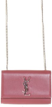 Saint Laurent Classic Small Monogram Satchel In Texture Grain De Poudre - MYSTIC ROSE - STYLE