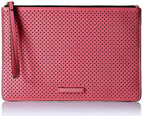 Armani Exchange A X Perforated Pebble Pu Pouch
