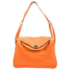 Hermes Lindy leather handbag - ORANGE - STYLE