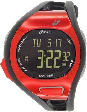 Asics Black/Red Ar07 Runner Unisex Multicolor Strap Watch-Cqar0711y